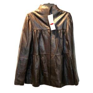 Karen Kane 100% leather jacket